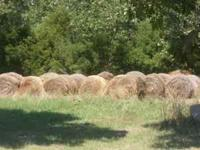 18 round bales 4x4. Last year hay. Stringed tied. Call