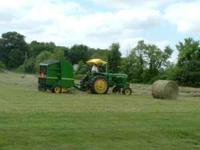 4X4 Round Bales of clean mixed grass hay, never wet,