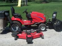 4x4 simplicity lawn mower w/ snow blower and bagger