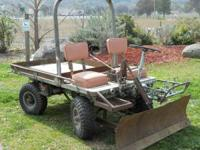 4 WHEEL DRIVE, 4 WHEEL STEERING, ELEC. START, AIR