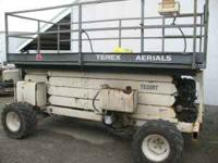 Terrex Scissor lift 4x4 Kubota diesel for $8,500. Also
