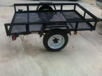 4x6 carry-on trailer like new lights safety chains etc.