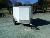 4x6 Enclosed Cargo Trailer. 2,000 lb axle. 3/8 plywood