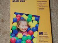 4x6 glossy photo paper, 60 sheets  $2 / box, minimum 5