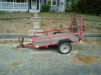 Utility/Motorcycle Trailer 4x6 in excellent