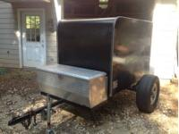 Trailer is a Route 66 4x6 that has a new hitch with