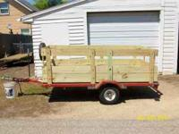I have a nice 4x8 Tilt Trailer made by Nuway. This is
