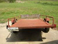 I have a nice 4x8 tilt utility trailer for sale. It is