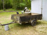 trailer wood sides and floor 1 7/8 hitch gate comes off