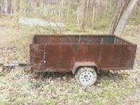 4x8 trailer. Has diamond plate steel sides and the