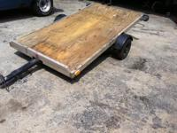 "4X8 trailer has 1""7/8 ball, new wood beginning of year,"