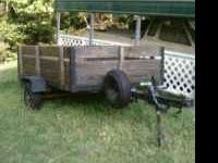 I have a nice 4x8 utility trailer. new tires and spare