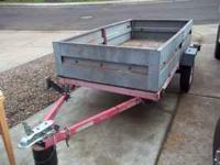 4x8 utility trailer with removable tailgate/siding kit