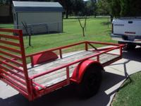 nice 4x9 flatbed trailer with folf down gate,good