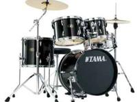 Black 5 piece TAMA drum set. Good Condition Cash only