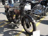 All original vintage motorcycle from WW 2. 250 2 cycle
