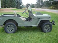 1952 Willys Jeep, CJ3A. Original metal body and in good