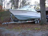 1991 Bayliner 2502 Mid cabin Large V Hull. Twin 150