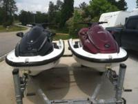 1998 and 1999 Yamaha Wave Runners XL760, Double Trailer