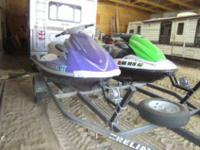 For sale is the 2 Jet Skis and trailer pictured. We are