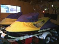 Seadoo Waverunners for sale with trailer. (2) 1999