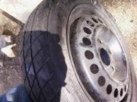 1- 255/55/17 tire only good for spare ( hold air ) or