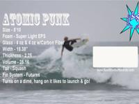 New 5 '10 Atomic Punk, Squash Tail, EPS & Epoxy