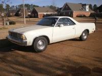 1980 El Camino Classic . $5,100. Second owner. New