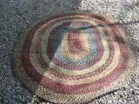 FOR SALE: 5'' 11'' BY 4'' 10'' BRAIDED RUG, READY TO BE