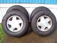 For sale is 4 savero 245/75/16 tires mounted on 1999