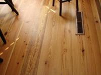 Old Growth Heart Pine Flooring. Tight grains and
