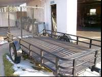 "5'3""X10' METAL TRAILER NEW PAINT LIGHTS AND WIREING"