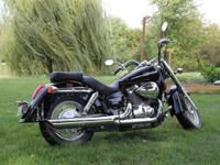 It is a 2008 750 Honda Shadow with only 2,345 miles on