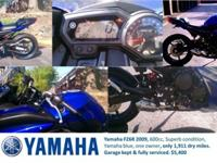 Yamaha FZ6R 2009, 600cc, Superb condition, Yamaha blue,