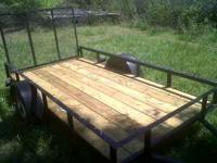 5 1/2 X 10 utility trailer. new wood bottom, freshly