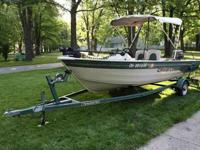 1999 Crestliner with Trailer and Spare Tire 25 HP