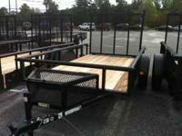 ***NEW*** 5.5x10 Utility trailer by CARRY ON Rear