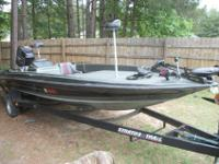 REDUCED!!!!!! Stratos 21 foot Bassboat with a Johnson