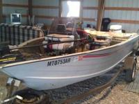 1989 1620 Lowe boat. Custom cover, 2012 55 pound thrust