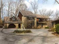 Active: Private Gated Entrance To Stone Home On 5+