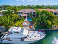 Exquisite Bay Point tropical contemporary waterfront