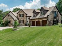 Country Manor styled home in Brown County like setting
