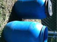 5 blue barrels 3 lids and 2 lid clamps for $50 obo. If