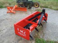 5' Box Blade 3PT never used with 4 teeth, made by LMC,