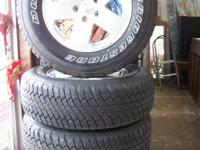 Available is a set of 5 Bridgestone Dueler Tires and