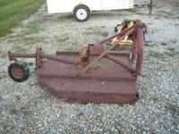 5' Brush mower. It works but needs a new home. $225.00,