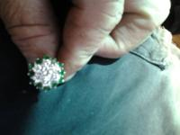 Up for sale or trade. Beautiful diamond and emerald
