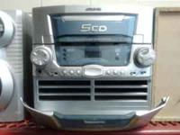 working radio have a 5 CD changer and a storage aera