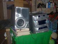 I am selling a 5 Cd player and two surround sound