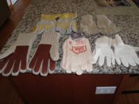 1 pr. White Ox Gloves $7.00.  1 pr. Fingerless Gloves
